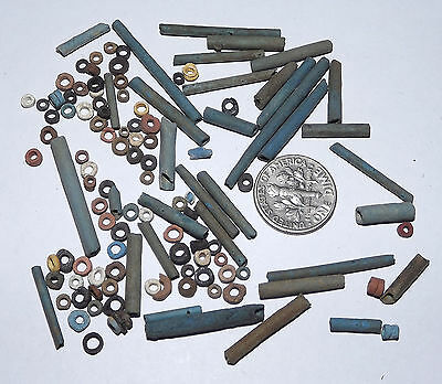 More than a Hundred 2500 Year old Ancient Egyptian Faience Mummy Beads (#D8442)