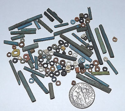 More than a Hundred 2500 Year old Ancient Egyptian Faience Mummy Beads (#D8695)