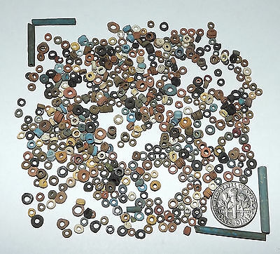 More than Five Hundred 2500 Year old Ancient Egyptian Faience Mummy Beads (D8719