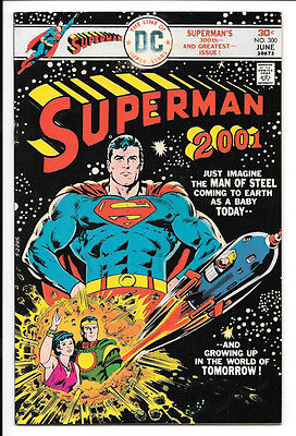 Superman #300 FN- 5.5 DC Bronze Age 1976 Superman in Year 2001!!!