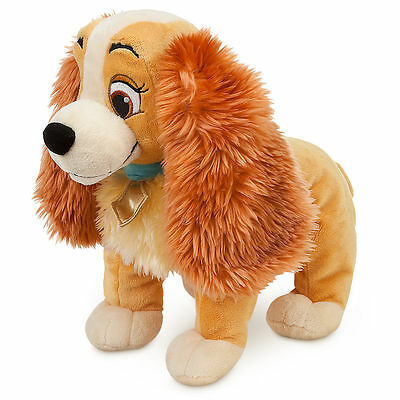 "Disney Authentic Lady & the Tramp BIG Plush Toy Doll 14"" Cute Dog Stuffed Animal"