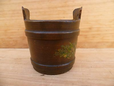 Vintage Old Small Size Timber Bucket Box, Old Box (B823)