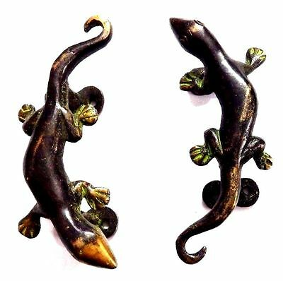Lizard Design Handmade Antique Vintage Style Solid Brass Door Handle Door Pull
