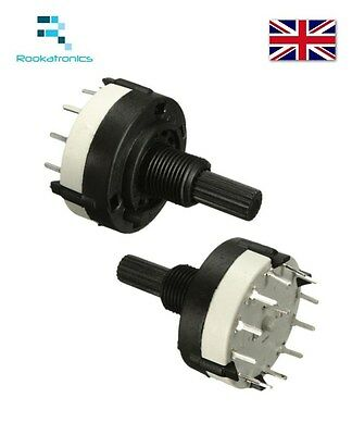X1 New Quality 1P12T Rotary Switch Band Channel Rotary Selector - Free Postage