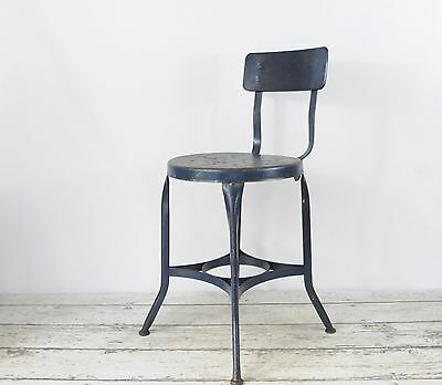 Vintage 1940's UHL Toledo Stool Chair Industrial Metal Steampunk