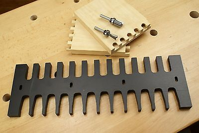 """15"""" Dovetail Router Joint Jig Template Woodworking Tool Joinery Through Bit Pin"""
