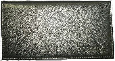 REAL Full Grain Leather Checkbook Cover -- Black  100% Satisfaction Guaranteed