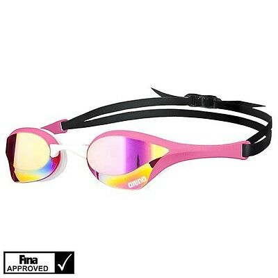 Arena Cobra Ultra Mirror Swimming Goggles Made In Japan Pink/Revo/Pink/White New