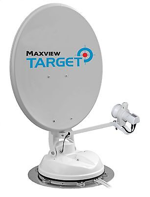 Maxview Target 85cm Fully Automatic Satellite Dish TWIN LNB Roof Mounted.