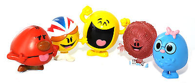 Mr Men Little Miss Childrens Set of 5 Unboxed Figurines Happy Messy Daredevil Wh