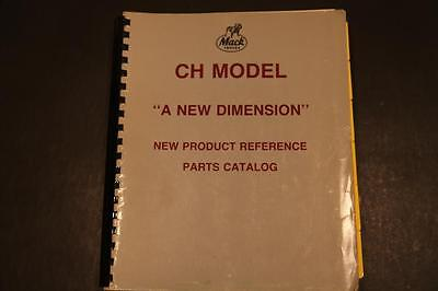 Mack CH model parts and reference book 1989