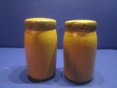 Mccoy Stoneware Pottery Canyon Mesa Set Of Salt And Pepper Shakers