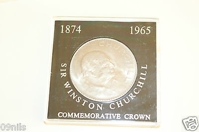 Uncirculated 1965 Sir Winston Churchill Commemorative Crown Cased Coin Gb Vtg