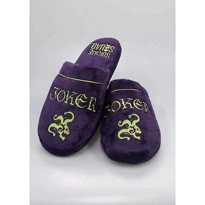 Suicide Squad - Joker Mule Slippers 8-10 NEW Groovy