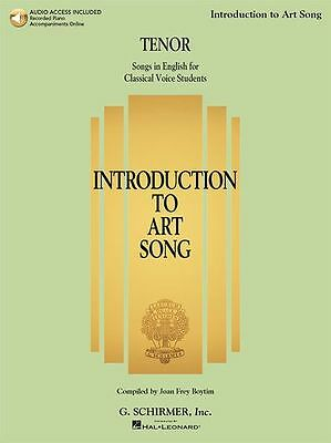 Introduction To Art Song For Tenor Singers Sing VOCALS MUSIC BOOK Online Audio