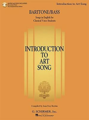 Introduction To Art Song Baritone Bass Singers VOCALS MUSIC BOOK Online Audio