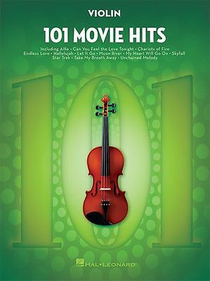 101 Movie Hits For VIOLIN Learn to Play Pop Rock Chart Film Songs MUSIC BOOK