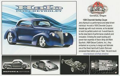 "2016 A&M Deluxe Customs ""Halo"" '39 Chevy Hardtop Coupe SEMA Show Promo info card"