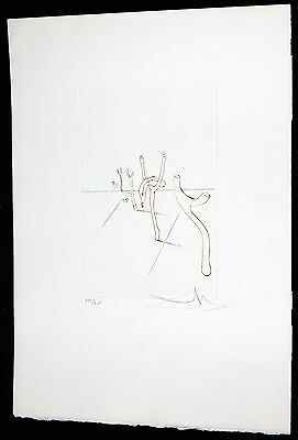 SALVADOR DALI etching SOFT WATCHES serie HAND SIGNED on BFK RIVES PAPER