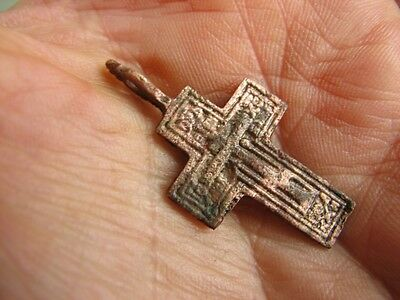 Nice Late Medieval Period  Bronze Cross #4849