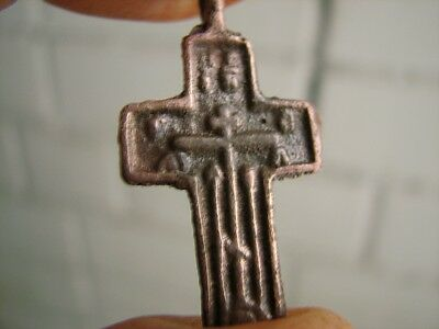 Nice Late Medieval Period  Bronze Cross #4854