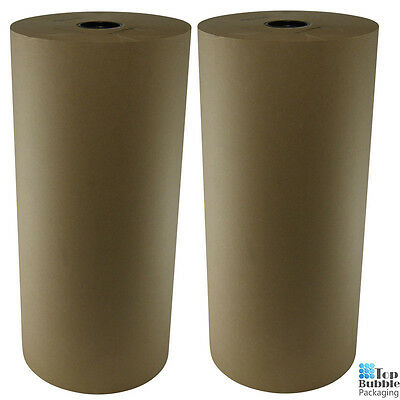 Kraft Paper Roll 50GSM Brown - 450mm x 450m 2 Rolls Packaging Paper Void Filler