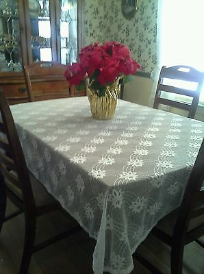 A Beautiful Lace Materal or Large Tablecloth