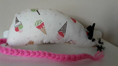 Catnip Mouse -  Ice Cream Cones - Handmade Cat Toy  X Strong Catnip