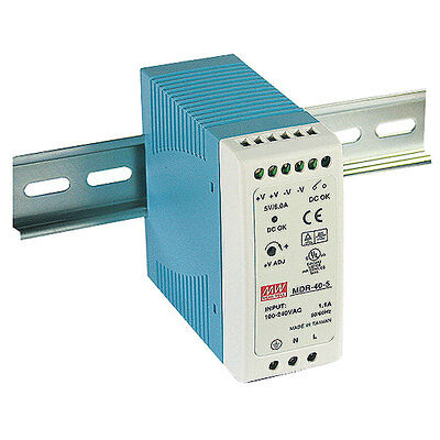Mean Well MDR-40-5 AC to DC DIN-Rail Power Supply 5 Volt 6 Amp 30 Watt
