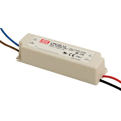Mean Well LPV-20-12 AC to DC Power Supply Enclosed LED Single Output 12 Volts 1.