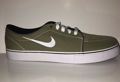 95ef48a6c3 NEW Nike SB Men s Satire Canvas trainers 555380-212 Olive Sneakers Shoes Sz  9.5