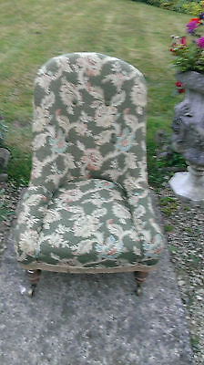 Vintage  Button  Back  Chair