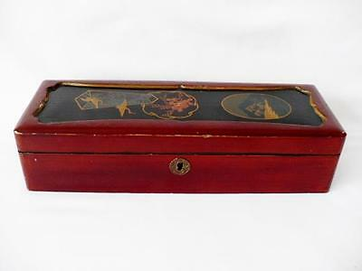 Early 20th c Japanese Meiji Period Ladies Laquered Glove Box