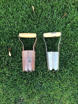 A Lot Of 2 Vintage  Wooden Handled Garden Bulb Planters