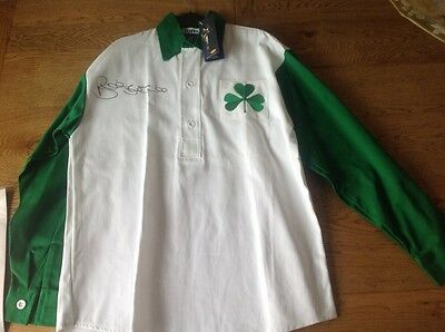 Celtic football shirt signed by BiILLY McNEILL