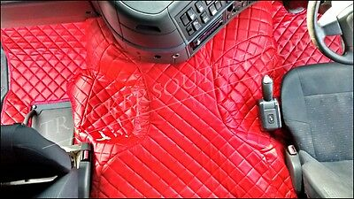 Volvo Fm Floor Set Leatherette In Red[Truck Parts & Accessories]
