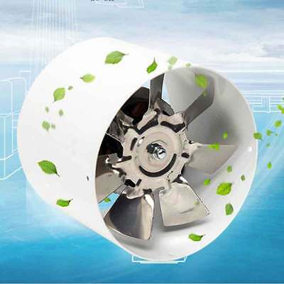 """4"""" Inch Inline Duct Fan Booster Exhaust Blower 220V Air Cooling Vent Metal Blade"""