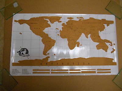 """Scratch Map Scratch-Off Travel Map - World Edition Wall Poster 34.65"""" x 20.4"""""""