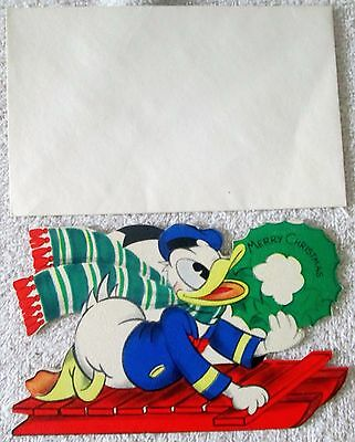 Disney's Donald Duck Christmas card unused mint condition-copyright 1941
