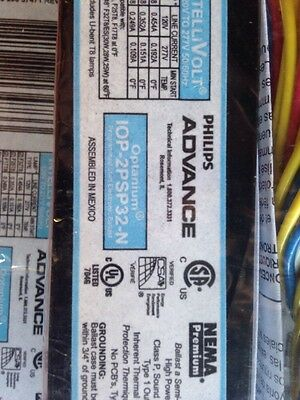 Lot of 6 Philips Advance IOP-2PSP32-N T-8 Ballasts
