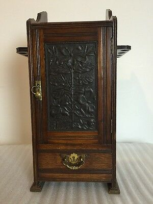 victorian pipe smokers 3 drawer cabinet with key for restoration