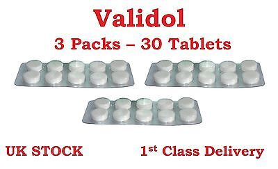 VALIDOL® 3 x 10 Tablets of 60mg Calming & Sedative Effects ANTI Stress, Neuroses