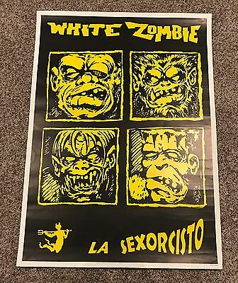 "White Zombie La Sexorcisto Monsters 34""x24"" Poster Scarce"