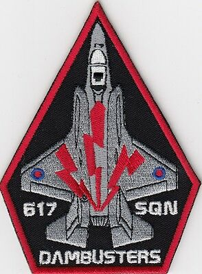 RAF Royal Air Force F-35 Lightning II Dambusters Embroidered Crest Badge Patch