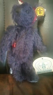 "Betsy Blue Bear by Knickerbocker Toy Co. 6"" Fully Jointed Mohair"