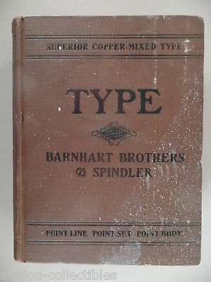 Barnhart Brothers & Spindler CATALOG - circa 1900 ~type specimen book,typography