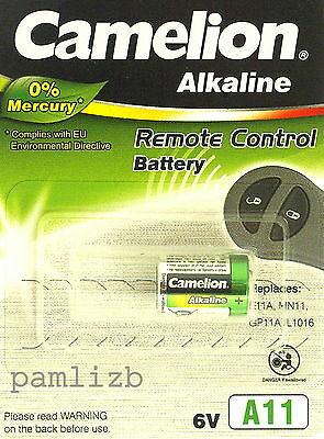 A11 6V Camelion Plus Alkaline High Energy  battery MN11  E11A  L1016 G11A WE11A