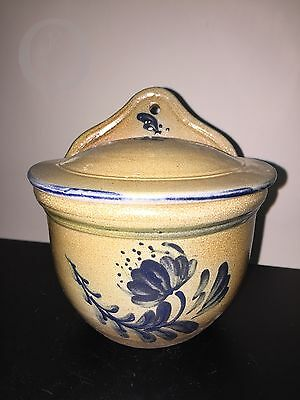 *2004**Rowe Pottery Handmade Historical Collection*Salt Glazed*Salt Box*16300O