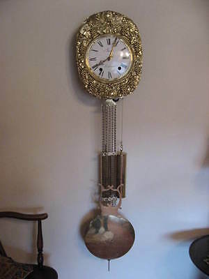 French Antique Comtoise 8 Day Wall Clock By Boissen Castelnaud In Dordogne /3790