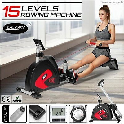 NEW  Heavy Duty Genki Magnetic Exercise Workout Rowing Machine, 4.5 KG Flywheel